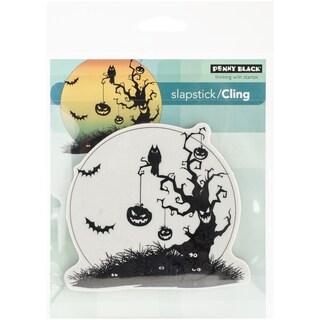 "Penny Black Cling Rubber Stamp 3.75""X4.25"" Sheet-Pumpkin Tree"