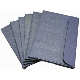 Handmade Elephant Poo Paper A2 Dark Blue Envelopes (25pcs)