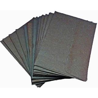 Handmade Elephant Poo Paper A2 Black Envelopes (25pcs)