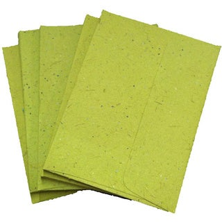 Handmade Elephant Poo Paper A2 Light Green Envelopes (25pcs)