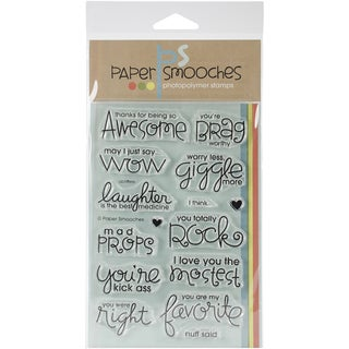 "Paper Smooches 4""X6"" Clear Stamps-Uplifters"