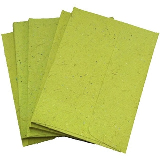 Handmade Elephant Poo Paper A6 Light Green Envelopes (25pcs)
