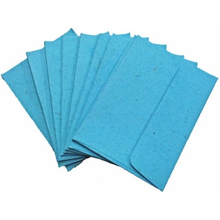 Handmade Elephant Poo Paper A6 Robin's Egg Blue Envelopes (25pcs)