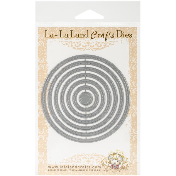La-La Land Dies 7/Pkg-Stitched Nested Circles