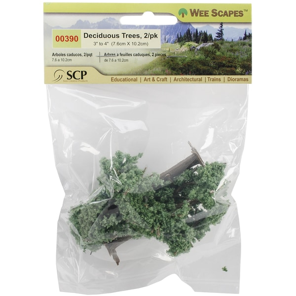 "Deciduous Trees 3""&4"" 2/Pkg-Light Green"
