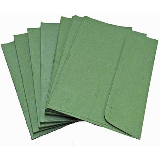 Handmade Elephant Poo Paper A7 Dark Green Envelopes (25pcs)