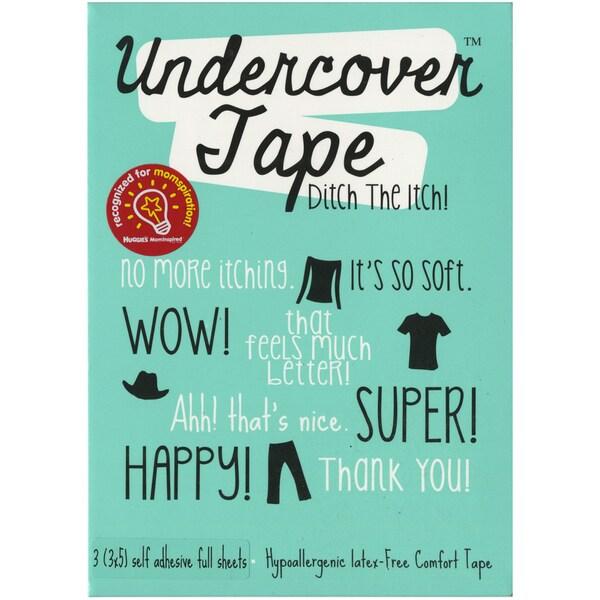 """Undercover Tape 3""""X5"""" 3/Pkg-White"""