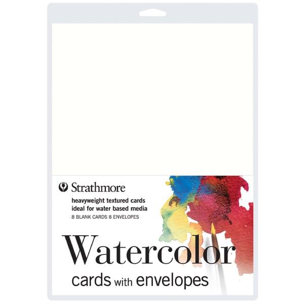 "Strathmore Cards & Envelopes 5""X7"" 8/Pkg-Watercolor"