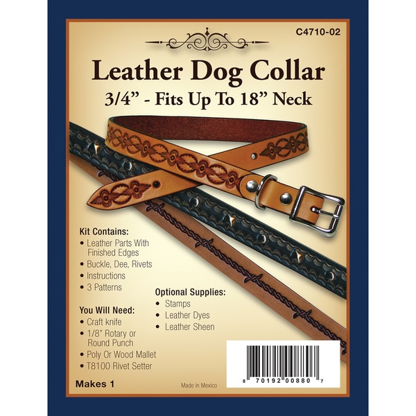 Leather Dog Collar 3/4in