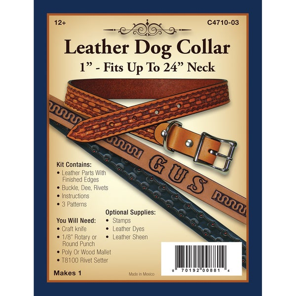 Leather Dog Collar 1in
