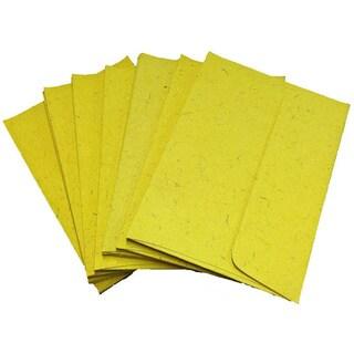Handmade Elephant Poo Paper A7 Yellow Envelopes (25pcs)