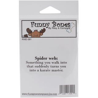 """Riley & Company Funny Bones Cling Mounted Stamp 2.5""""X1""""-Spider Web"""