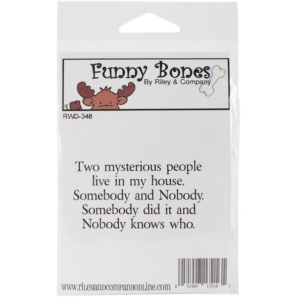 "Riley & Company Funny Bones Cling Mounted Stamp 2.5""X1.25""-Two Mysterious People"