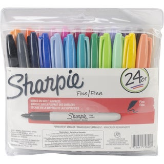 Sharpie Fine Point Permanent Markers 24/Pkg-Write Colors