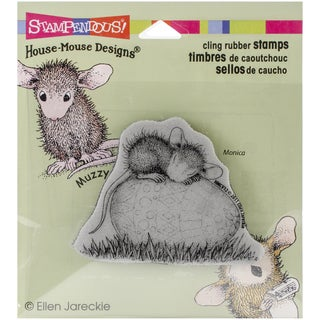 """Stampendous House Mouse Cling Rubber Stamp 4""""x3.5"""" Sheet-Easter Egg Nap"""