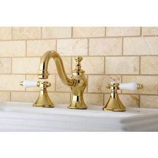 Victorian Polished Brass Widespread Bathroom Faucet