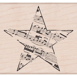 """Hero Arts Mounted Rubber Stamps 3.25""""X3.75""""-Music Star"""