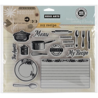 Hero Arts Adventures In Cardmaking & Journaling Cling Stamps-My Recipe