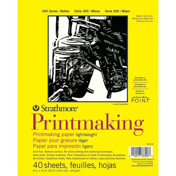 "Strathmore Lightweight Printmaking Paper Pad 8""X11""-40 Sheets"