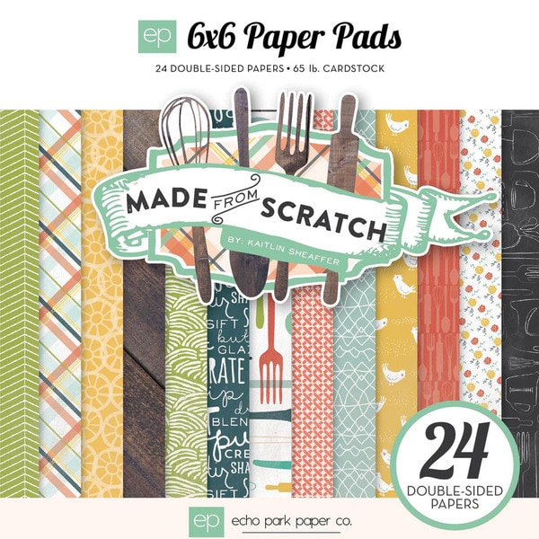 "Echo Park Double-Sided Paper Pad 6""X6"" 24/Pkg-Made From Scratch"