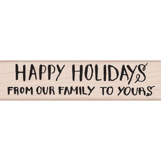 """Hero Arts Mounted Rubber Stamps .5""""X3""""-From Our Family To Yours"""