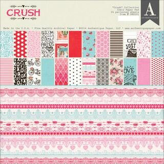 "Authentique Double-Sided Paper Pad 12""X12"" 24/Pkg-Crush"