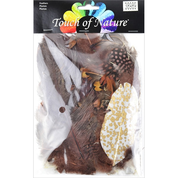 Mix Package Feathers 7 Grams/Pkg-Chocolate, Natural & Sienna