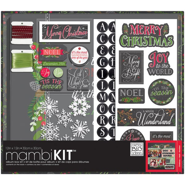"Me & My Big Ideas Boxed Album Kit 12""X12""-Chalk -Merry Christmas"