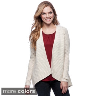 Forte Women's Wool and Cashmere Draped Open Cardigan