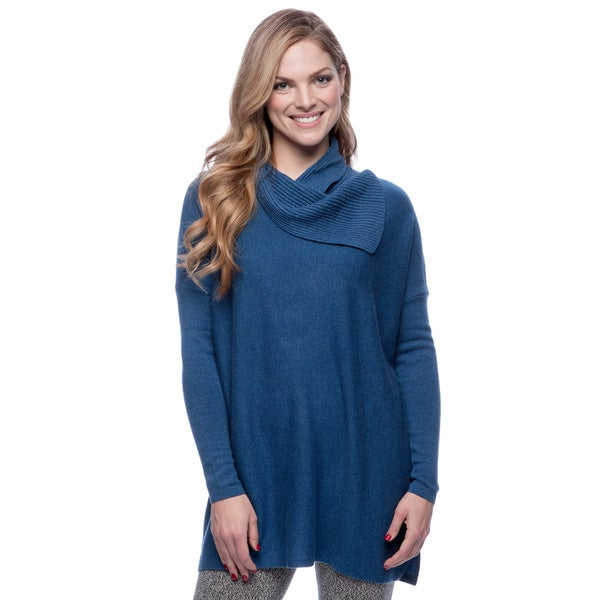 Forte Women's Lapis Blue Cashmere Chunky Sweater