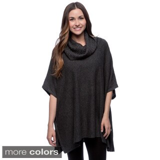 Forte Cashmere Blend Marl Cowl Poncho