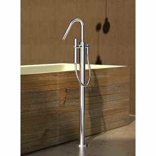 Aquatica Colonna Faucet  Floor Mounted Tub Filler  Chrome
