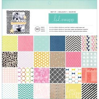 "Heidi Swapp Paper Pad 12""X12"" 180/Pkg-Best Of Heidi Swapp"