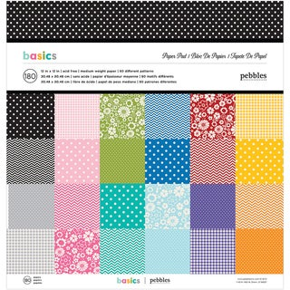"Pebbles Paper Pad 12""X12"" 180/Pkg-Best Of Pebbles"