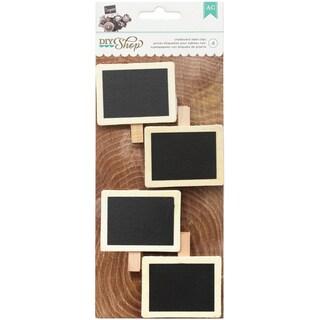 DIY Shop 2 Label Clips 4/Pkg-Framed Chalkboard