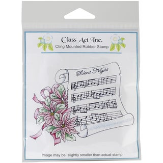 """Class Act Cling Mounted Rubber Stamp 4.25""""X5.75""""-Silent Night"""