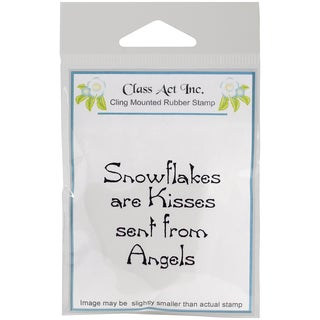 "Class Act Cling Mounted Rubber Stamp 2.75""X3.75""-Snowflake Kisses"