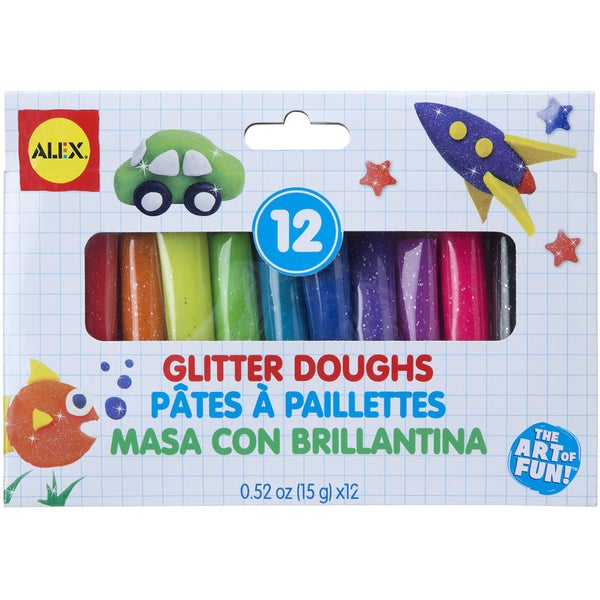 Dough Set 12pc-Glitter