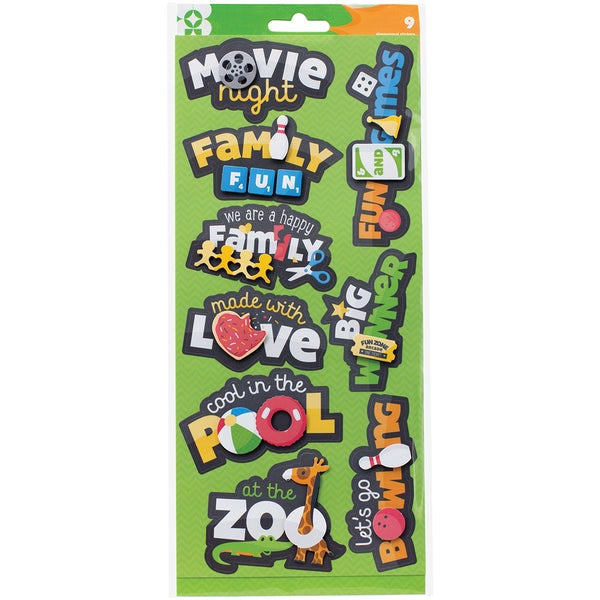Family Fun Dimensional Sticker Stackers