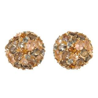 De Buman 18k Yellow Goldplated Metal Crystal Earrings