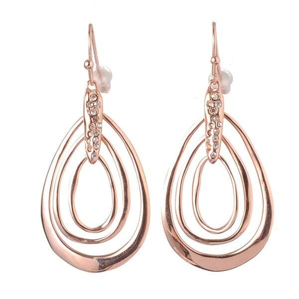 De Buman 18K Rose Goldplated Crystal Earrings