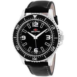 Seapro Men's SP5311 Tideway Round Black Strap Watch