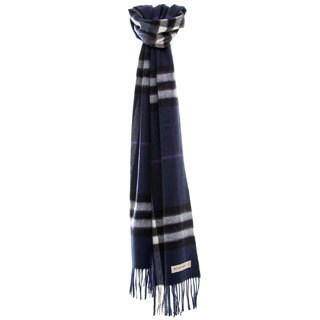 Burberry Dark Indow Giant Check Cashmere Scarf