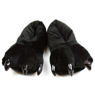 Leisureland Unisex Black Bear Paw Slippers