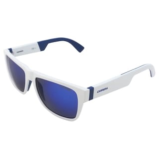 Carrera Unisex '5002/SP 26LZ0' White and Blue Sunglasses