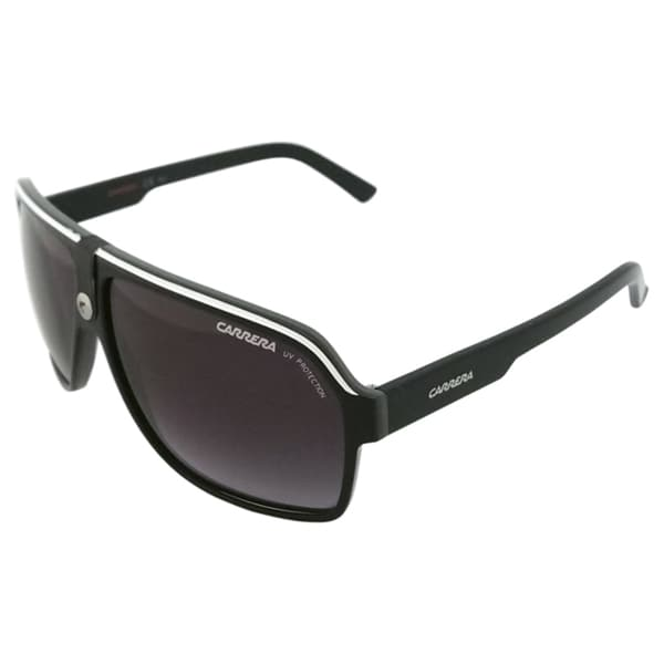 Carrera Unisex '33/S 8V69O' Black/ Crystal Grey Fashion Sunglasses