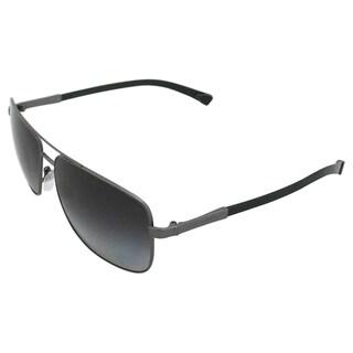 Dolce & Gabbana Men's 'DG 2139 1108/T3' Matte Gunmetal/ Grey Polarized Sunglasses