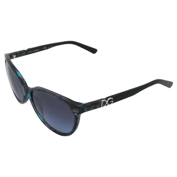 Dolce & Gabbana Women's 'DG 4171 2689/8F' Blue Marbled Sunglasses