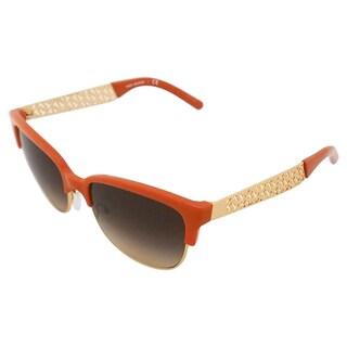 Tory Burch Women's 'TY 6032 3013/13' Orange/ Gold Sunglasses