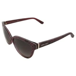 Jimmy Choo Women's 'Odette 6ULXQ' Python Fuchsia Sunglasses